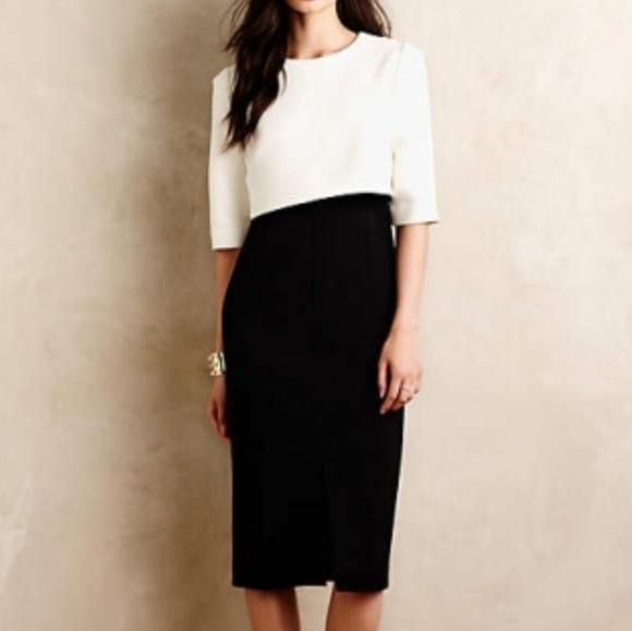 1588070e62a Anthropologie Dresses   Skirts - Anthro TY-LR Colorblock Midi Sheath Dress  L6